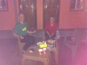 camping in the guesthouse with new and old friends